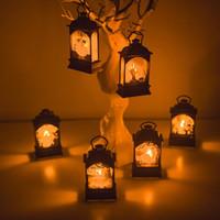 Wholesale party supplies for sale - Group buy Halloween Vintage Castle Pumpkin Witch Ghost Light Lamp LED Lantern Festival Party Hanging Decor Party Decoration Supplies Cartoon Figure