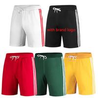 Wholesale mens patterned cotton pants resale online - New Mens Designer Shorts Summer Brand Sport Shorts Casual Brand Pocket Embroidery Pattern Beach Luxury Short Pants Plus Size S XL