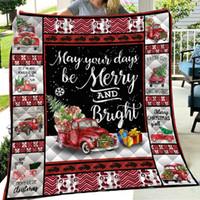 Wholesale cotton jacquard blanket for sale - Group buy 150 cm Christmas Blanket Air Condition Quilt D Letter Print Blankets Outdoor Travel Picnics Mat Pad Towel Warm Cotton Quilt LJJA3381