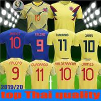 nueva camisa de té al por mayor-NUEVO 2018 2019 Copa América Colombia camiseta 2020 Colombia casa camisetas de fútbol 19 20 de distancia Camiseta de fútbol FALCAO JAMES CUADRADO TEO BACCA