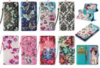 Wholesale bird catcher for sale - Group buy 3D Dot Butterfly Mandala Flower Wallet Leather Case For Samsung Galaxy S10 Plus S10E Flamingo Bird Cat Flower Dream catcher Stand Skin Cover