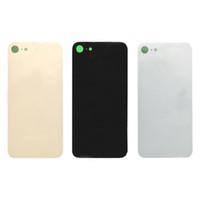 teile reparieren großhandel-Top qualität für iphone 8 8 plus x original zurück batterieabdeckung hintere türverkleidung glas gehäuse case + anhaftender aufkleber reparatur ersatz teil