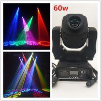 hareketli kafa led renk toptan satış-Sıcak satış 60 w LED hareketli kafa ışık 7 renk modu renk desen ışık DMX512 kanal ses kontrolü adanmış disko DJ parti sahne aydınlatma