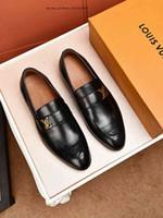 ingrosso pattini casuali di affari degli uomini neri-Brand New Bullock Scarpe da uomo Inghilterra Scarpe da uomo Business Casual Scarpe Moda uomo a punta traspirante Scarpe nere