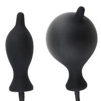 sexo inflável do pénis venda por atacado-Danceyi Inflável Plug Anal Massageador Vibrador Pênis Forte Vibração Homem Orgasmo Brinquedo Do Sexo Anal Masculino Atrasado Instrumentos av039