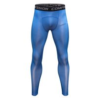 bodybuilding de vêtements de compression achat en gros de-2018 Nouvelle Compression Muscle Bodybuilding Pantalons Collants Hommes Leggings Fitness G ym Vêtements À Séchage Rapide Grand Élastique Hommes Pantalons