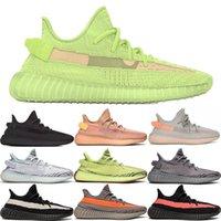 brillantes zapatos verdes al por mayor-TOP Zapatos de diseñador para hombre Zapatos para correr para mujeres Zapatillas de deporte de arcilla Hiperespacio Ture TRFRM Negro Estático Verde GID Glow Trainers encaje reflectante