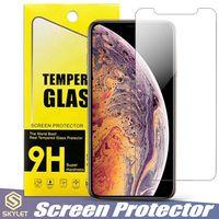 vaso a8 al por mayor-Para Moto E5 Reproducir Alcatel 1X Protector de pantalla para Huawei Mate 20 Lite para iPhone XS MAX Vidrio templado Para Galaxy S7 A8 2018 J3 J7 2018 LG K30 en la caja