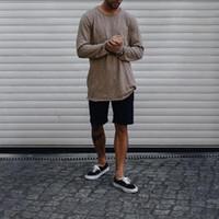 camisa nova da forma t do inverno dos homens venda por atacado-Outono e inverno homens de luxo camisetas designer de camisetas para homens nova chegada camisetas de mangas compridas moda causal marca mens clothing m-3xl