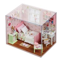 Wholesale 3d assembling diy house doll for sale - Group buy Sunshine Series Doll House Furniture Assemble Kits Toy Diy Miniature d Wooden Handmade Miniaturas Dollhouse Toys Gifts Y19070503