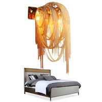 ganglampe groihandel-Moden Atlantis Aluminium Ketten-Licht Wandleuchten Spiegel Licht-Stream Leuchte Aisle Lampe Flur Leuchten Badezimmer Lichtschlafzimmerlampe
