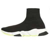 Wholesale bag dark red resale online - 2019 Designer Shoes Speed Trainer Black Red Gypsophila Triple Black Fashion Flat Sock Boots Men Women Casual Shoes Runner With Dust Bag