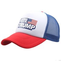 Wholesale crochet hats online - TRUMP hat Baseball Cap Keep America Great Hat cotton Trump Mesh cap Republican President Trump Hats colors MMA1667