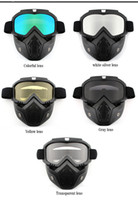 Wholesale bicycle face protection resale online - Safety Goggles Face Mask Windproof Dustproof UV protection Eyewear Mask Removable Bicycle Motorcycle Tactical Goggles Masks