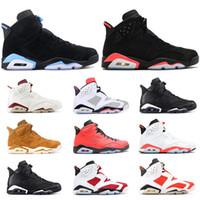 5247d613d3f4bd Nouvelle arrivée retro 6 6s mens chaussures de basket INFRARED UNC MARRON  TINKER HATFIELD BLACK CAT CARMIN GATORADE hommes baskets de sport taille  8-13