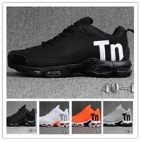 en iyi erkek kıyafeti toptan satış-Mercurial TN Erkek Tasarımcı Koşu Ayakkabı 2019 Erkekler Rahat Hava Yastığı Elbise Eğitmenler Açık En Iyi Yürüyüş Koşu Spor Sneakers ABD 7-12