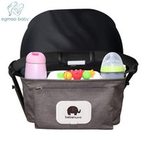 Wholesale baby nappy holder resale online - Baby Stroller Organizer Bag with Tissue Pocket and Cup Holders Extra Large Storage Space Baby Stroller Accessories Bag Nappy Bag Y200107
