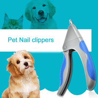 tesoura de unha para cães venda por atacado-Atacado Pet Dog Care Cat Nail Clipper Prego Cão Clippers Não-deslizamento de aço Inoxidável Nailclippers Little Scissors Grooming Trimmer BC BH0469