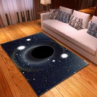esteira do rastejamento do bebê macia venda por atacado-série Universo 3D Black Hole impressão Tapete do bebê Crawl Mat Crianças Sala Área Rug Mat macios de flanela Home Decor Tapetes para sala de estar