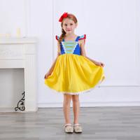 kabarık parti elbisesi toptan satış-Yeni Varış Prenses Kız Elbise Çocuklar Pamuk Tül Kabarık Parti Kostüm Moda Cadılar Bayramı Noel Çocuk Giysileri