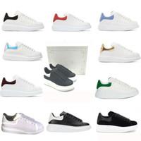 sapatos homem italia novo venda por atacado-2020 nova caixa de Itália de designer sneakers enormes camurça homens de veludo mulheres sapatos plataforma tênis de luxo de couro sapatos casuais tamanho 35-45