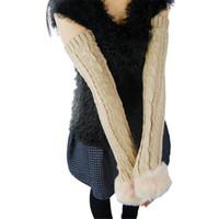 ingrosso ragazze braccio riscaldatori-Fashion-Women Girls Winter Warmer Arm Warmers Guanti lunghi a maglia senza dita Copriguanti 12 colori a2