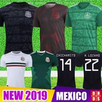 treinamento no méxico venda por atacado-2019 CAMPEONETAS de Futebol do México Taça de Ouro CHICHARITO Camisetas de futbol kit Casa Fora LOZANO VELA RAUL LAYUN GUARDADO Camisas de Futebol de Treinamento