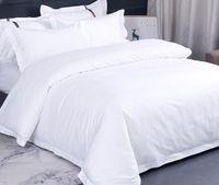 Wholesale king beddings resale online - 3pcs Hotel Beddings Set Duvet Cover Flat Sheet Pillowcases Without Filler Cotton S S S