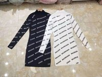 Wholesale korean skirt dress winter autumn for sale - Group buy Letter jacquard ladies long skirt autumn and winter new Korean fashion high end outer wear base long knit skirt210