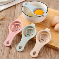 Discount plastic kitchenware 13*6cm Plastic Egg Separator White Yolk Sifting Home Kitchen Accessories Chef Dining Cooking Kitchen Gadgets Kitchenware Egg Dividers