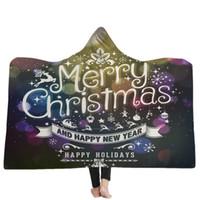 presentes do natal venda por atacado-Feliz natal cobertor com capuz de lã wearable jogar cobertores crianças adultos presente de natal manto quente capes têxtil de casa gga2589