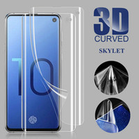 caixa de plástico de vidro venda por atacado-Protetor de tela Macio TPU Protetor Film PET Curvo De Vidro De Plástico Para Samsung S10 S10PLUS S9 NOTA 9 S8 NOTA 8 sem caixa