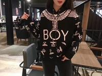 koreanischer junge mode pullover großhandel-Frühling neue Designer koreanische Version der hochwertigen Street Fashion BOY Adler mit Kapuze voller Druck Hoodie lose Männer und Frauen Paar Pullover