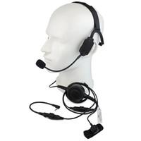 fones de ouvido militares walkie talkie venda por atacado-Dedo PTT MIC Bone Condução Do Osso Militar Fone De Ouvido fone de Ouvido para Motorola T5950 / 6200/6220 Rádio Ham Walkie talkie C2217A