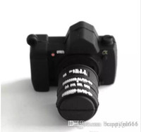 almacenamiento de la memoria de la cámara al por mayor-Bonito regalo ventas de Navidad Forma de cámara 8GB USB 2.0 Flash Drive Memory Stick Thumb Storage U Disk al por mayor