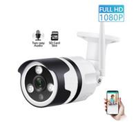 açık hd kablosuz ağ kameraları toptan satış-Bulut depolama Kablosuz IP Kamera 1080 p HD wifi açık su geçirmez Kamera P2P Alarm Onvif CCTV gözetim video kamera