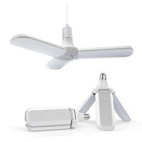 rohs led e27 toptan satış-45 W E27 LED Ampul SMD2835 228 leds Süper Parlak Katlanabilir Fan Bıçak Açısı Ayarlanabilir Tavan Lambası Ev Enerji Tasarrufu Işıkları