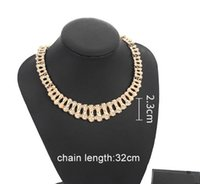 Wholesale environmental necklaces for sale - Group buy The latest European and American fashion hip hop fashion attractive personality exaggeration of environmental protection metal diamond in