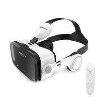 android için sanal gerçeklik oyunları toptan satış-Z4 VR KUTUSU HD versiyonu VR sanal gerçeklik gözlükleri kulaklıklarla kulaklığa 3d oyun film 120 ° Android için denetleyici ile geniş görüş açısı