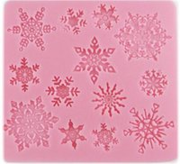 Wholesale lace silicone decoration resale online - New Bar D christmas decorations snowflake Lace chocolate Party DIY fondant baking cooking cake decorating tools silicone mold