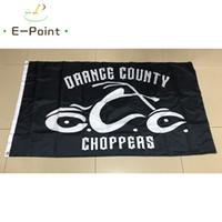 ingrosso bandiera arancione-Orange County Choppers Motorcycle Flag 3 * 5ft (90 cm * 150 cm) bandiera poliestere bandiera decorazione volare casa giardino bandiera regali festivi