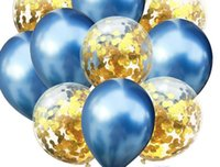 baloon dekorationen groihandel-Mixed Gold Konfetti Luftballons Geburtstagsfeier Dekoration Kinder Erwachsene Metallic Ballon Air Ball Set Geburtstag Ballon Decor Baloon