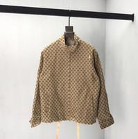 etiketleme standı toptan satış-2019 erkek tasarımcı ceket lüks Domuz nakış baskı Metal fermuar giysi Standı Yaka uzun kollu Erkek Kadın gerçek etiket etiketi Yeni