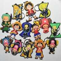 Wholesale one piece anime key resale online - Hottest Design Anime Keychain One Piece Keychain Keyring Gift Children s Toys PVC Key chain Kids toys