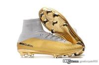 sapatos ronaldo frete grátis venda por atacado-Frete grátis 2019 nova Mercury Superfly V Ronalro FG CR7 Cristiano Ronaldo Mens DF Botas De Futebol Botas de Futebol Homens Sapatos