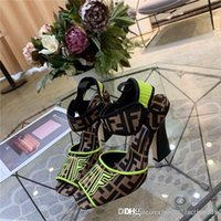 Wholesale sandal material resale online - The latest explosive square head fashionable high heels Classic shapes and iconic materials Refined Comfortable Soft Lady Sandals