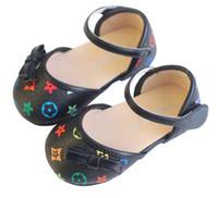 sevimli kız ayakkabıları yaylar toptan satış-Sevimli çocuk ayakkabıları bebek yumuşak alt çocuk tek ayakkabı PU toddler ayakkabı yay kızlar 454