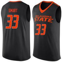 ingrosso pullover nero di cowboy-Oklahoma State Cowboys College 33 Marcus Smart Black Orange Retro Jersey di pallacanestro Mens Stitched Numero personalizzato e maglie di nome