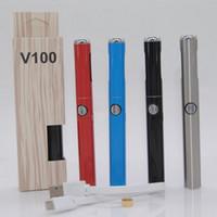 ingrosso i disegni della batteria della penna vape-Autentica batteria Hibron V100 Preriscaldamento 650mAh Tensione discreta Vape Discreet con caricatore USB Batteria più recente Design originale