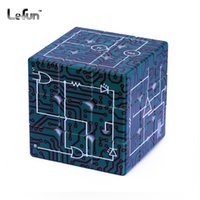 Wholesale electric circuit toys for sale - Group buy 3x3x3 Electric Circuits Pattern Printing Puzzle Magic Cube Toy for Student